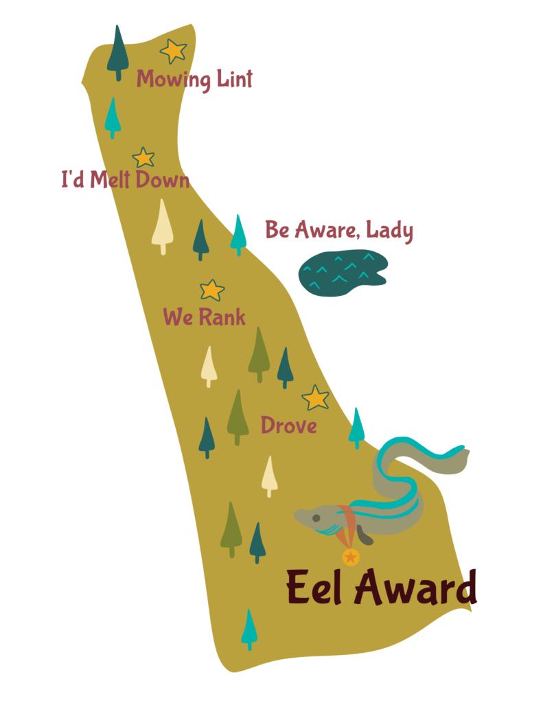 Anagram map of Delaware