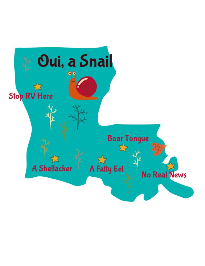 Anagram map of Louisiana