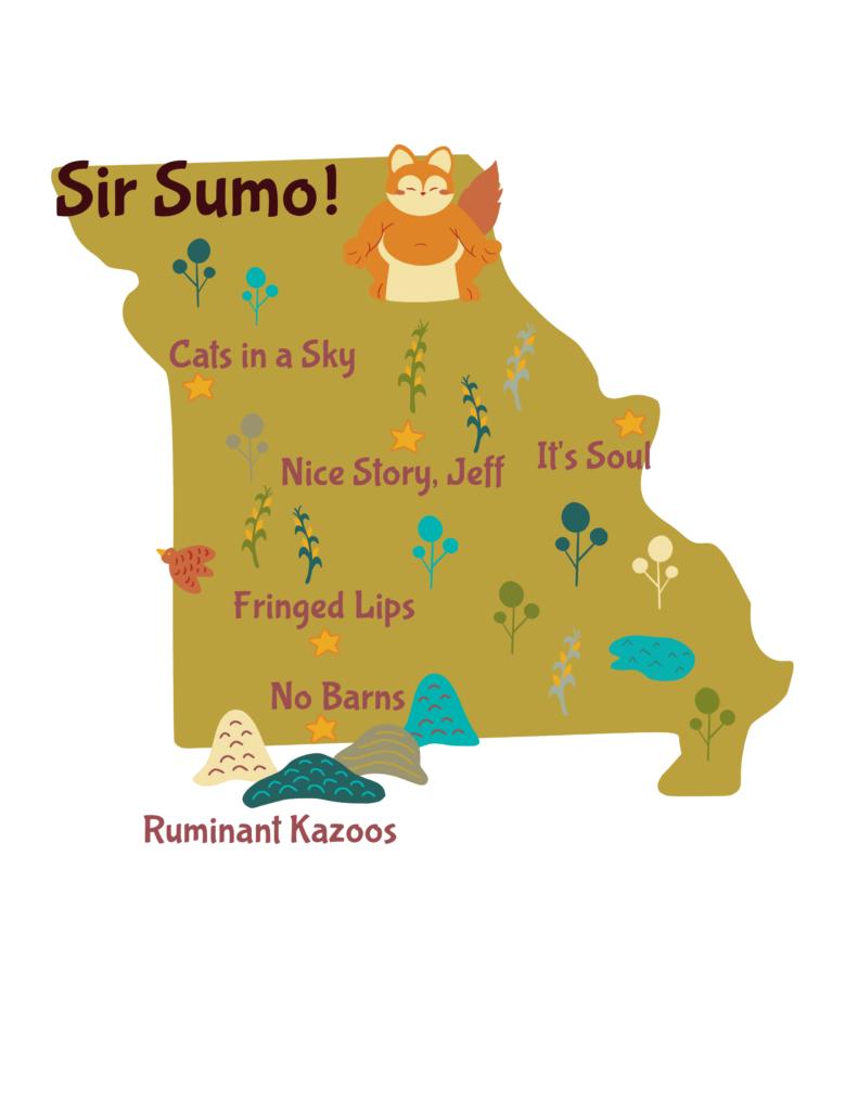 Anagram map of Missouri