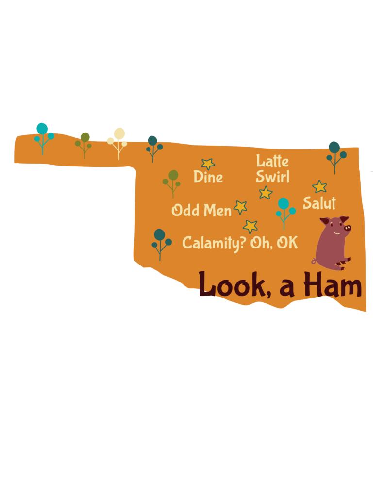 Anagram map of Oklahoma
