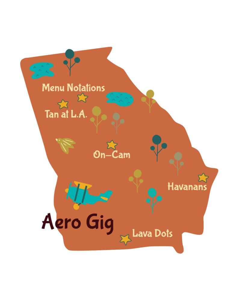 Anagram map of Georgia.