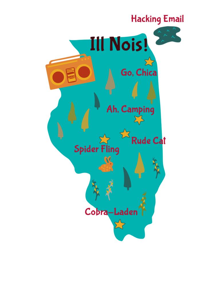 Anagram map of Illinois.