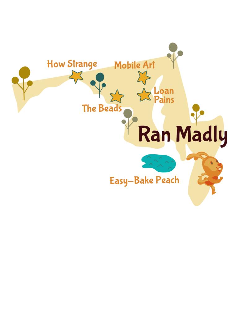 Anagram map of Maryland.