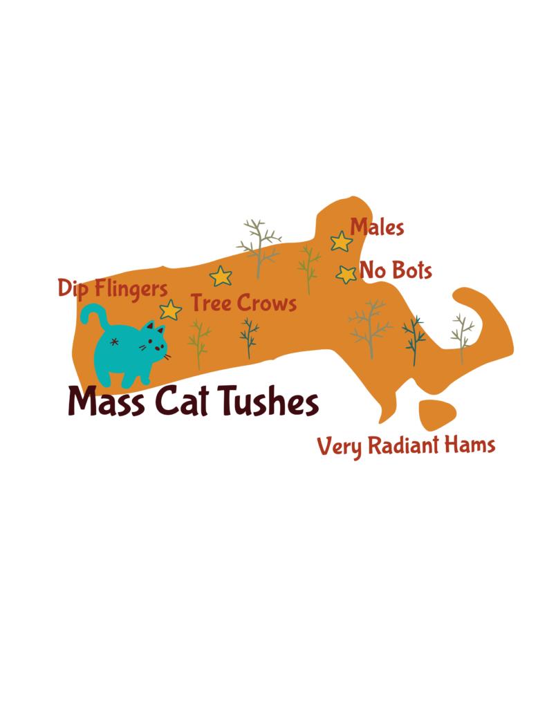 Anagram map of Massachusetts.