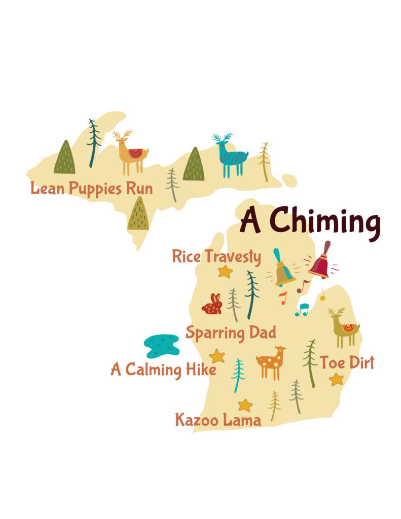 Anagram map of Michigan.