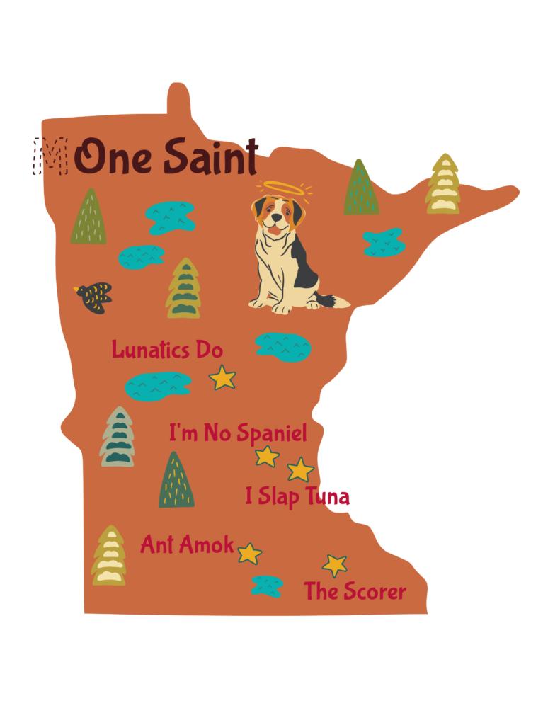 Anagram map of Minnesota.