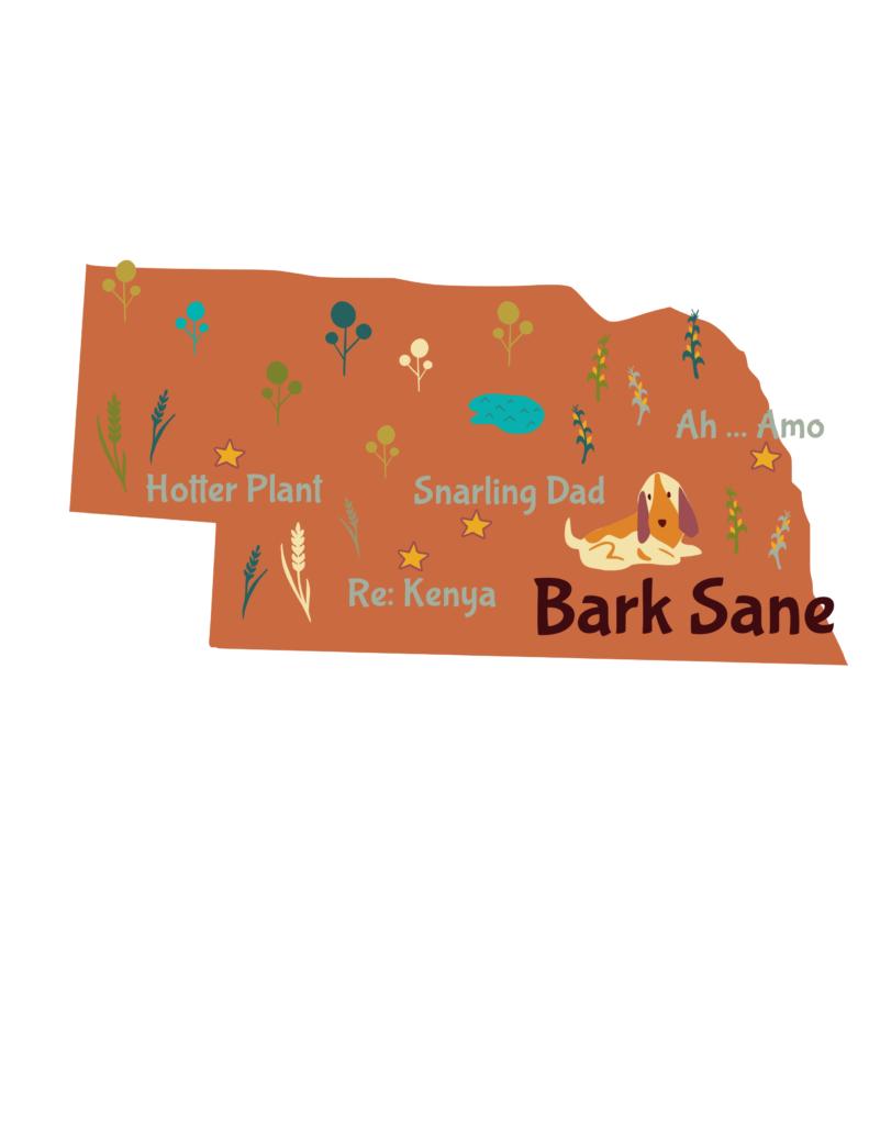 Anagram map of Nebraska.