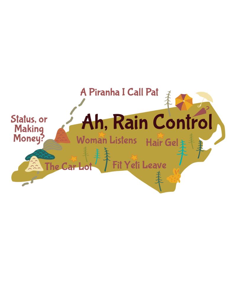 Anagram map of North Carolina.