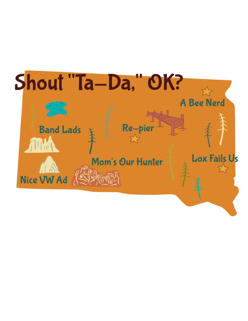 Anagram map of South Dakota.