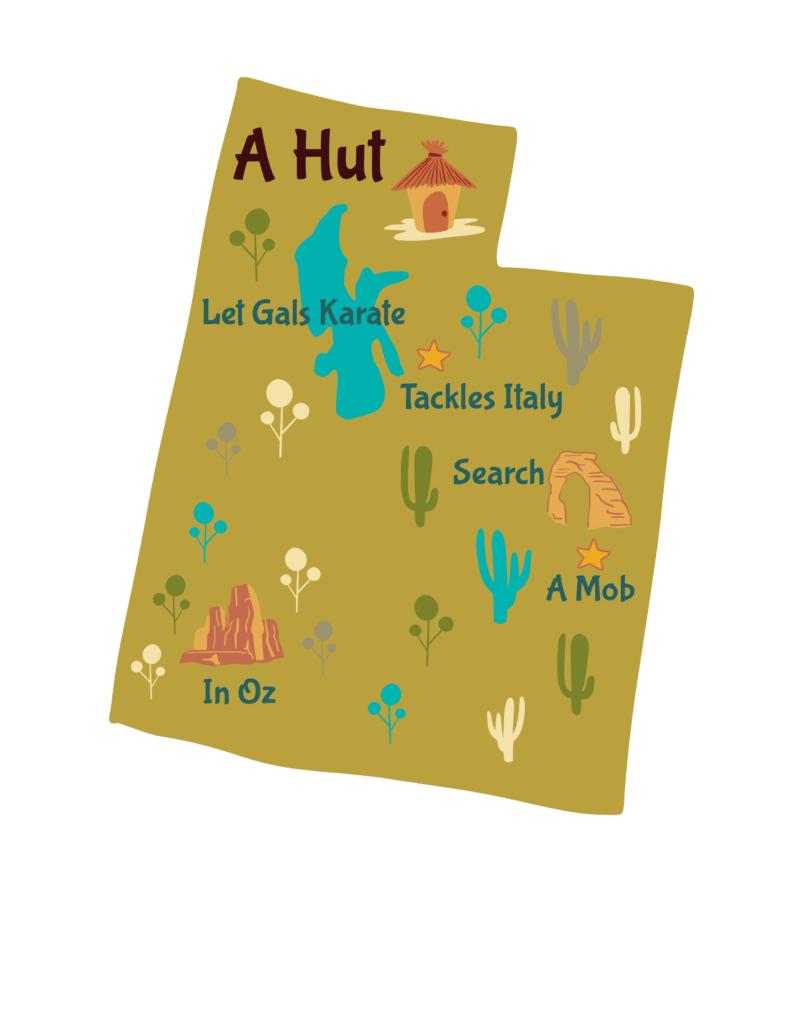 Anagram map of Utah.