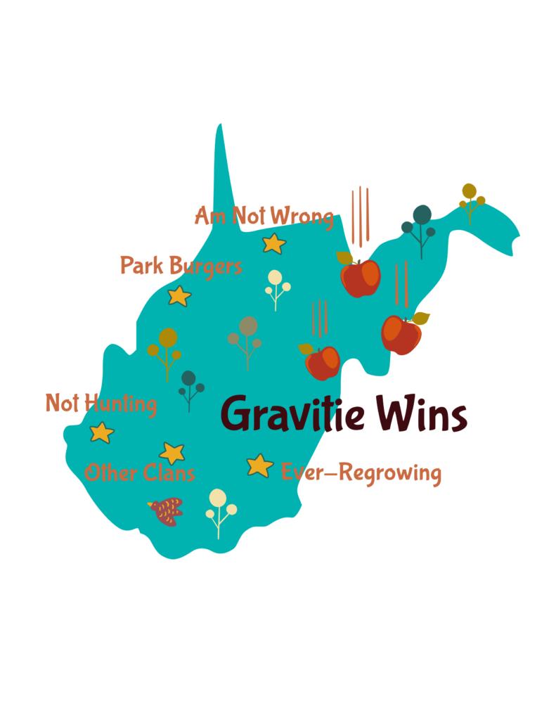 Anagram map of West Virginia.